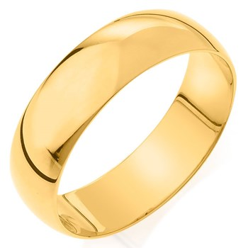 Camelot Bridal Men's Comfort Feel 6mm Wedding Band
