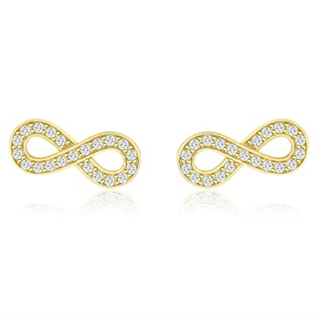 344421-Gold Infinity Earrings