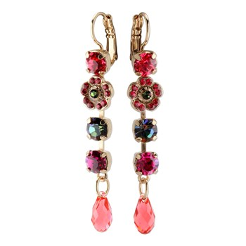 655-02866-Mariana Multi-Color Floral Earrings