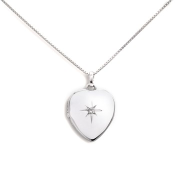 340461-Lovely Locket Small Silver Heart Necklace