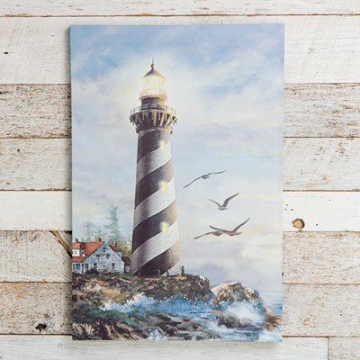 Lighthouse Light Up Canvas