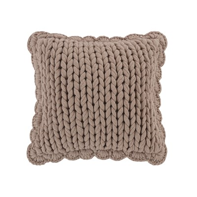 Donna Sharp Chunky Knitted Taupe Dec Pillow