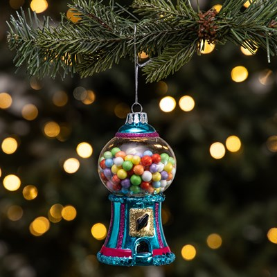 Glass Gumball Machine Ornament