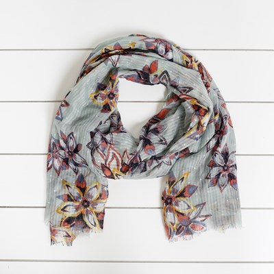 Floral Print Fashion Scarf