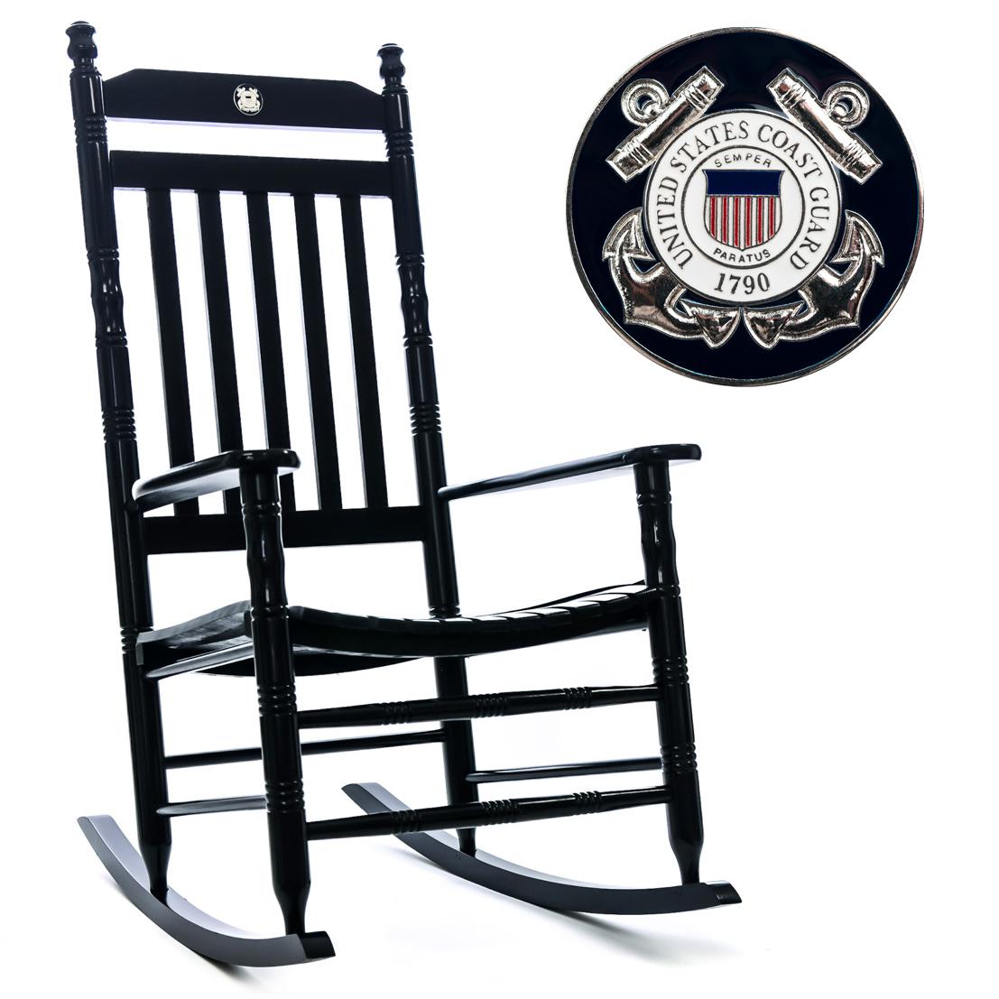 U.S. Coast Guard Fully Assembled Rocking Chair