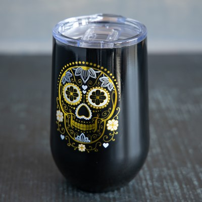 Sugar Skull 16oz. Stemless Glass