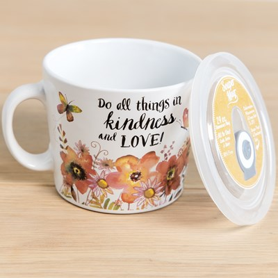 Kindness Souper Mug with Lid - 24 oz.