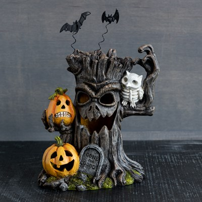 Light-Up Haunted Tree Decor