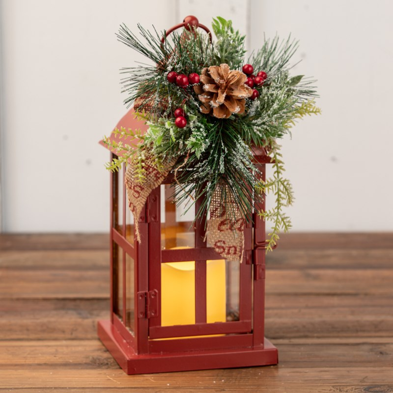 Christmas Lantern with Flicker Candle - Cracker Barrel Old Country Store