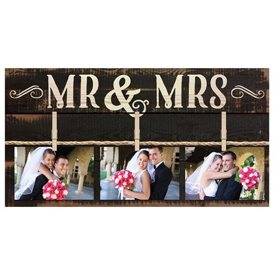 """Mr. & Mrs."" Wall Photo Board"
