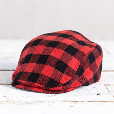 Red Check Ivy Cap