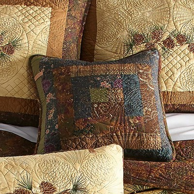 Cabin Raising Pine Cone Dec Pillow by Donna Sharp