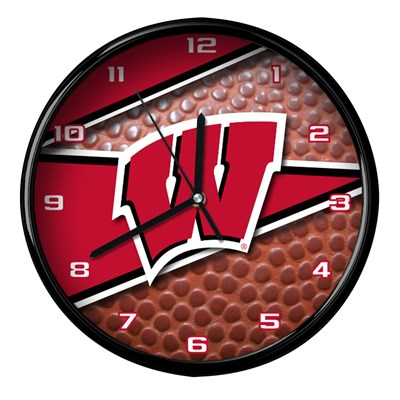 Wisconsin - Football Clock