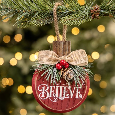 """Believe"" Wood Ornament"