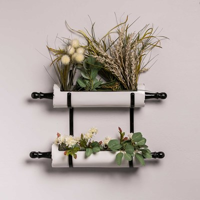 Metal Rolling Pin Wall Planters
