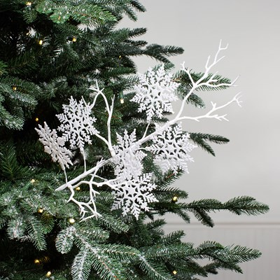 Glitter Snowflake Tree Pick