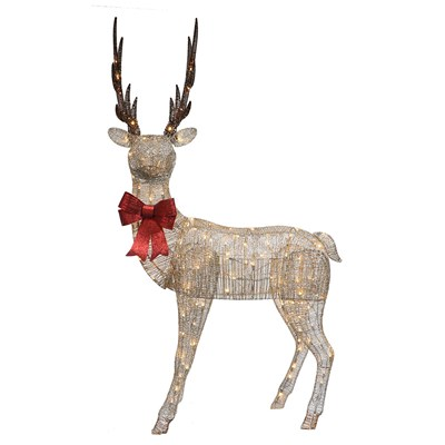 "86"" Standing LED Lighted Elk Yard Art"