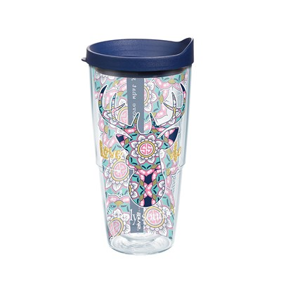 """Love Deerly Mandala"" 24 Oz. Tumbler"