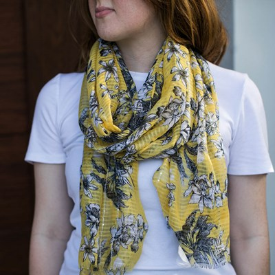 Women's Floral Sequin Scarf