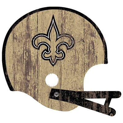 New Orleans Saints - Distressed Helmet