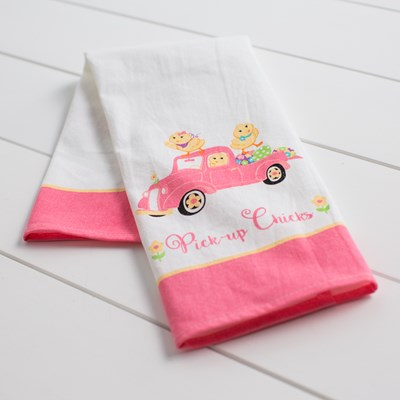 """Pick Up Chick"" Kitchen Towel"