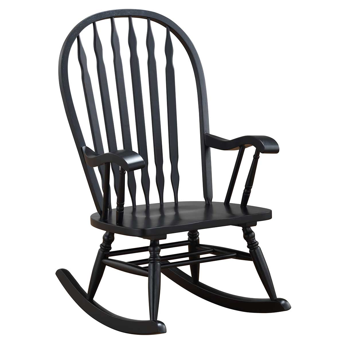 Phenomenal Black Classic Americana Style Windsor Rocker Ncnpc Chair Design For Home Ncnpcorg