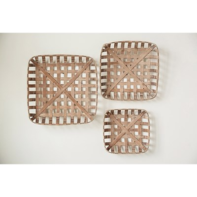 Square Cork Baskets - Set of 3