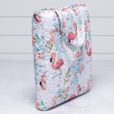 Flamingo Print Throw In Bag