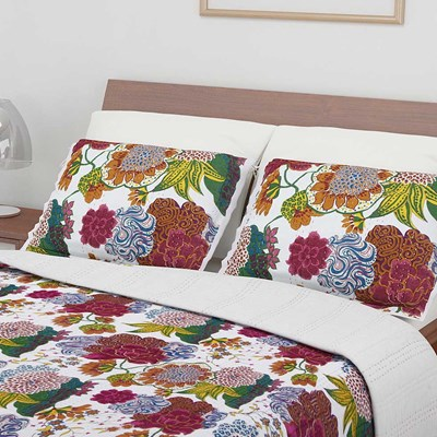 Tina Floral Whole Cloth Sham