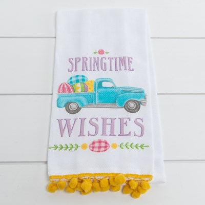 Springtime Wishes Tea Towel