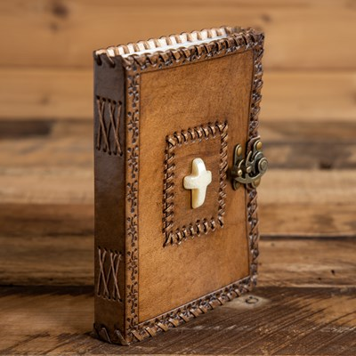 Stone Cross Leather Journal