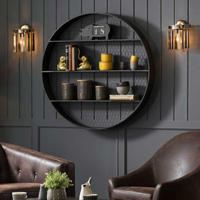 Round Metal Wall Shelves