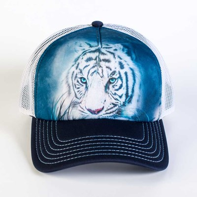 Thoughtful White Tiger Trucker Hat