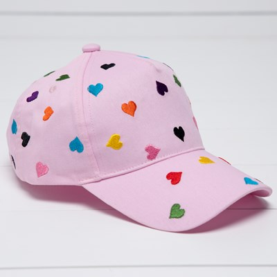 Toddler Embroidered Heart Baseball Cap
