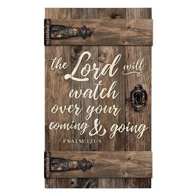 """The Lord Will Watch Over You"" Barn Door Wall Decor"