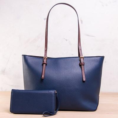 2-in-1 Navy Tote Bag