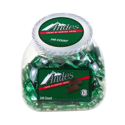 Andes Creme de Menthe Thins 240-Piece Bowl