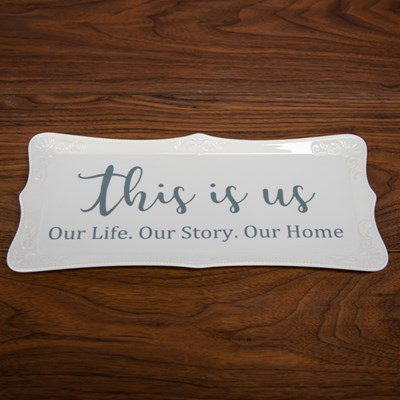 This Is Us Stoneware Platter