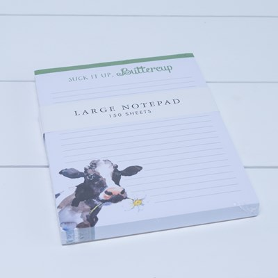 """Suck It Up Buttercup"" Cow Large Notepad"