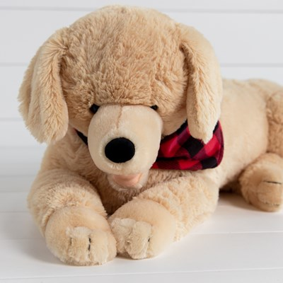 Golden Lab with Scarf Plush