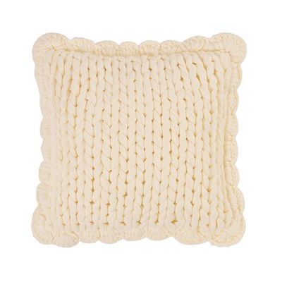 Donna Sharp Chunky Knitted Cream Dec Pillow