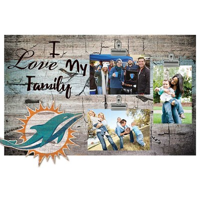 Miami Dolphins - I Love My Family Clip Frame