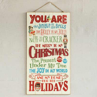 """Merry to My Christmas"" Wall Decor"
