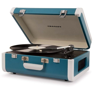Crosley ® Portfolio Portable Bluetooth Record Player - Turquoise