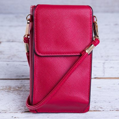 Red Crossbody Wallet