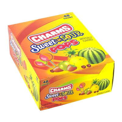 Charms Sweet and Sour Pop - 48 pieces