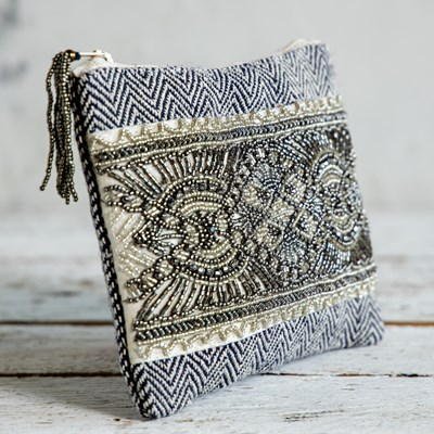Vintage Beaded Travel Pouch