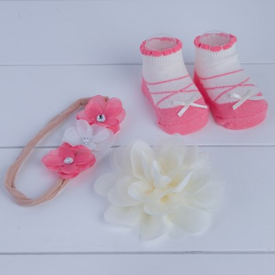 Floral Hair and Sock Set
