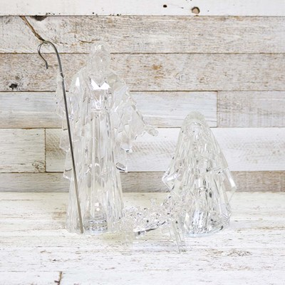 Lighted Acrylic Holy Family 3 Piece Set