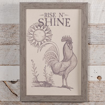 """Rise N' Shine"" Framed Art"